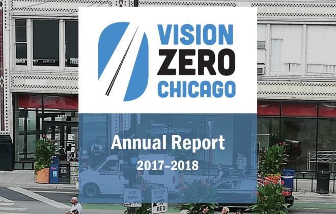 Annual report cover, Milwaukee Avenue