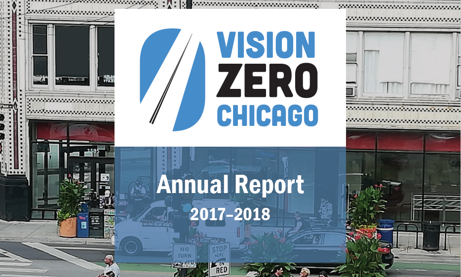 Annual report cover, Milwaukee Avenue